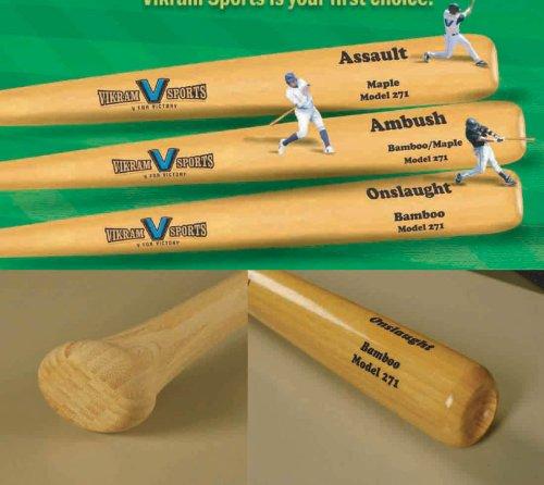 ught Bamboo Baseball Bat (Model 271) 32 Inch 29 Oz (-3) by Vikram Sports at Factory Direct Price (Bamboo Hybrid Baseball Bat)