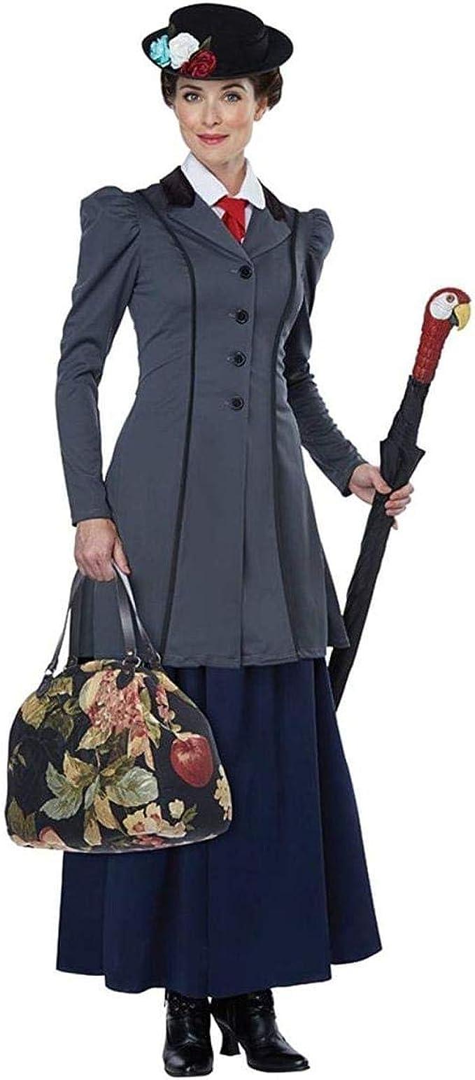 Amazon.com: Disfraz de niñera inglesa para mujer, color azul ...
