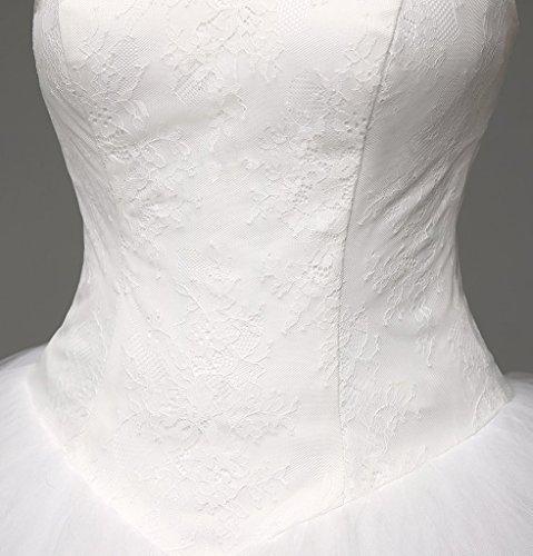Lacée Ivoire Robe De Mariée Longue De Robes De Bal Chérie Des Femmes Dzdress