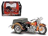 iron 883 model - Maisto 3179 1947 Harley Davidson Servi-Car Black with Orange HD Custom Motorcycle Model 1/18 Diecast Model