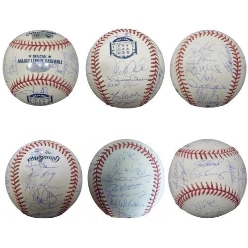 2008 New York Yankees Team Autographed (Final Season Logo) MLB Baseball - (Steiner Derek Jeter Signature Baseball)