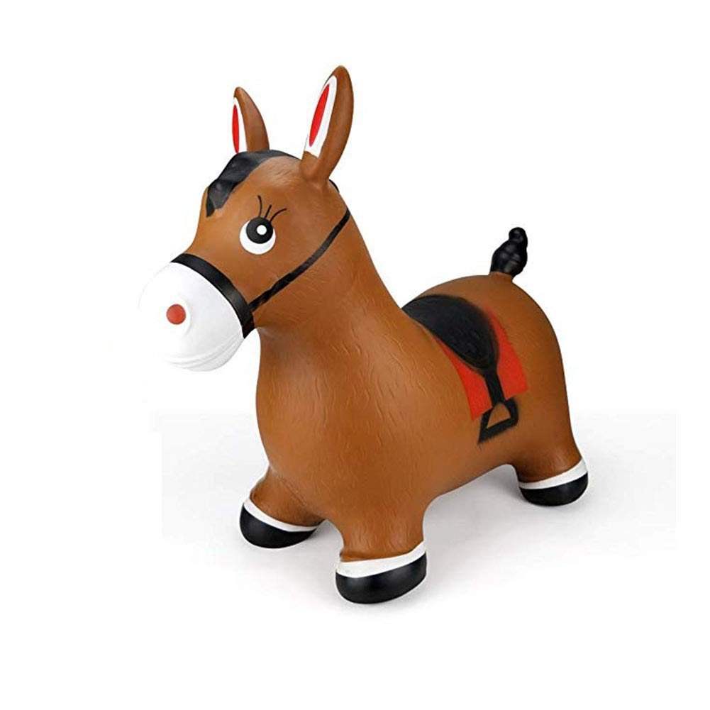 SXJ Hopping Horse - Inflatable Jumping Horse, Ride on Rubber Bouncing Animal Toys for Kids/Toddlers/Children/Boys/Girls (Pump Included) by SXJ