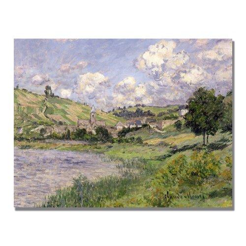 Landscape, Vetheuil, 1879 by Claude Monet, 18×24-Inch Canvas Wall Art
