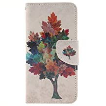 """NEXCURIO [Colorful Pattern] 5.5"""" iPhone 6S Plus / 6 Plus Wallet Case with Card Holder Folding Kickstand Leather Case Flip Cover for Apple iPhone 6S Plus / 6 Plus (5.5-inch) (Pattern #2)"""