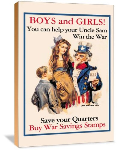 Uncle Sam wall art - Boys and Girls! - cool Americana wall art