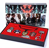 7 Pcs/Set Marvel Avengers Weapons Metal Pendant Necklace in Box