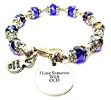 I Love Someone With OCD Capped Crystal in Sapphire Blue Chubby Chico Charms Exclusive