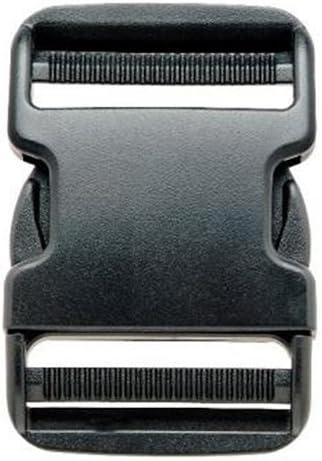Negro Lado Plano Ajustable Doble Lanzamiento Pl/ástico Hebillas Correas Hebilla Clips 25mm REKYO 1 Pulgada