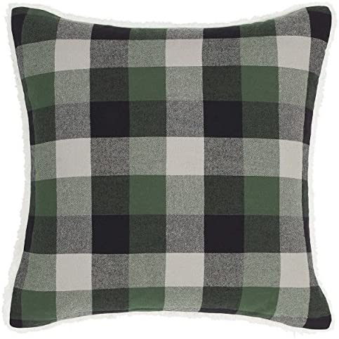 Eddie Bauer Finley Plaid Throw Pillow, Dark Green