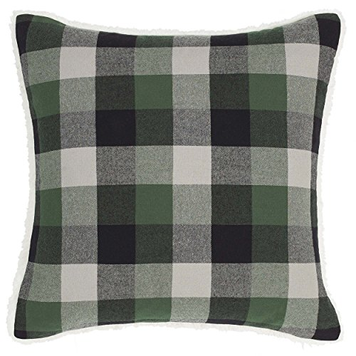 Eddie Bauer Finley Plaid Throw Pillow, 20x20, Dark Green