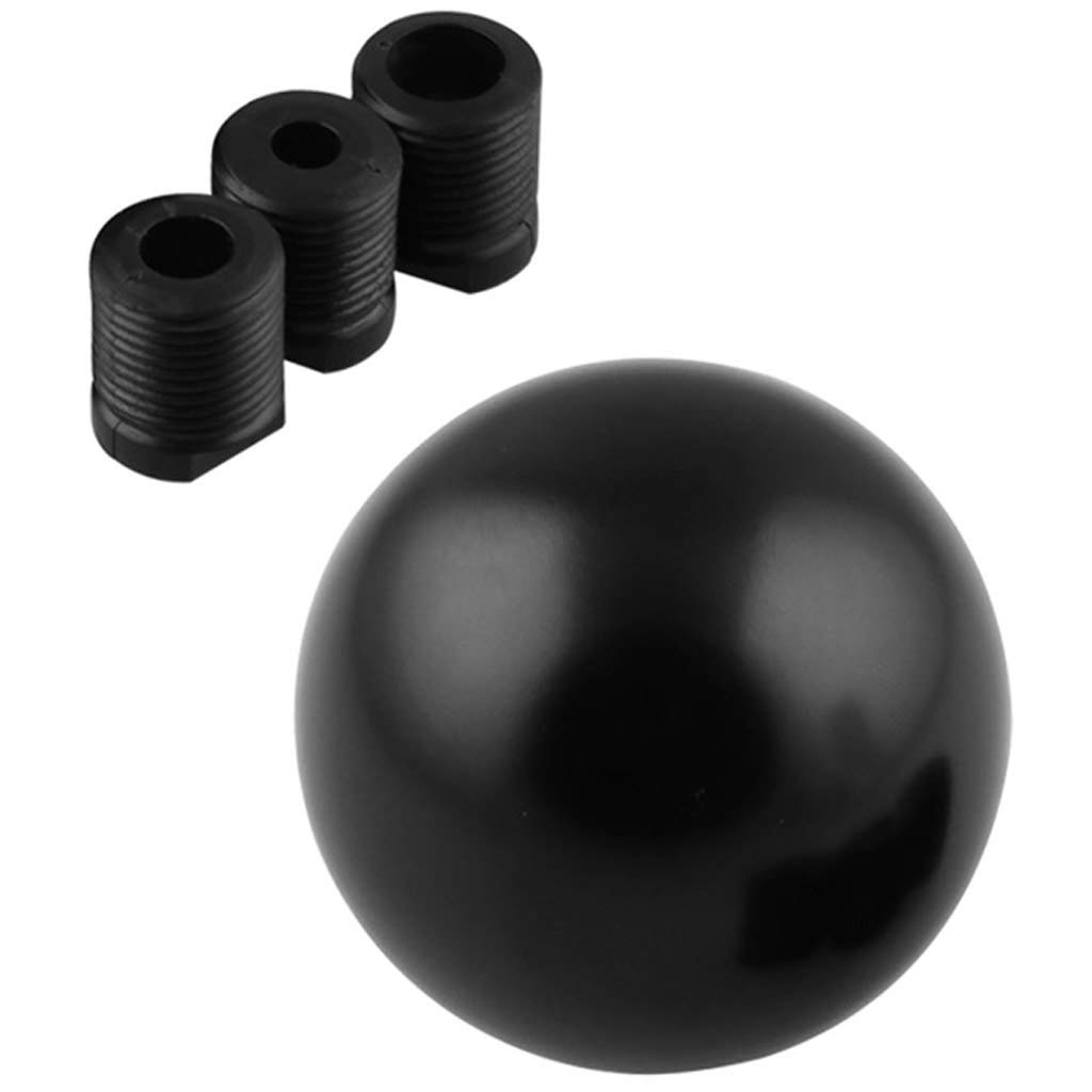 Gear Shift Knob Round Ball luminum Gear Shifter Head Replacement w// 3 Thread Adapters Compatible with Both Manual Car