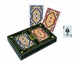 KEM Paisley Playing Cards: 2 Deck Set Red and Blue, Standard Index (3-Pack)