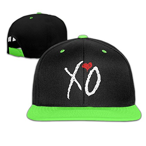 wyuzhen-kids-xo-the-weeknd-hip-hop-snapback-hat-caps-kellygreen