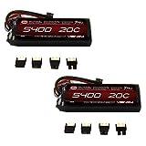 Venom 20C 2S 5400mAh 7.4 LiPO Battery with Universal Plug (2-Pack)