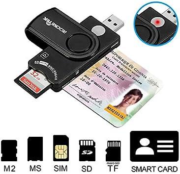Rocketek [USB y Micro USB] Mini Lector de Tarjetas Adaptador Micro ...
