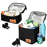 WinMax Insulated Lunch Box/Portable Cooler Bag with Detachable Shoulder Strap for Adults Waterproof and Durable(2 Sizes Packed)