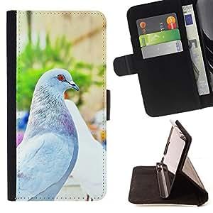 BullDog Case - FOR/HTC One M9 / - / dove pigeon Italy Florence summer sun /- Monedero de cuero de la PU Llevar cubierta de la caja con el ID Credit Card Slots Flip funda de cuer