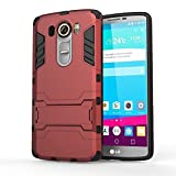 LG G Stylo Case, CASEPLAY [Ultra Slim] [Impact Resistant] Case Protective Hybrid Armor Case Cover with Dual Layer Advanced Shock Absorption & KickStand Feature for LG G Stylo (Red)
