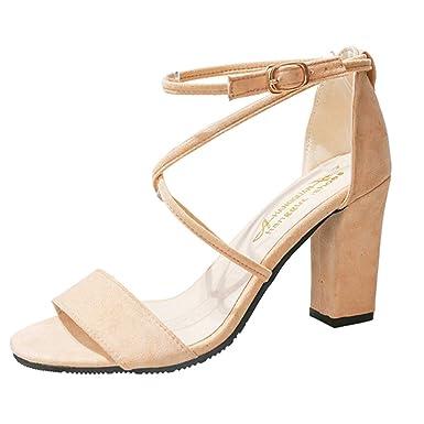 ffb9070f92e DENER❤ Women Ladies Wedge Platform Gladiator Sexy Sandals with High Heels