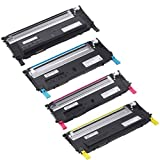 Speedy Inks – Compatible Dell Toner Cartridge Set Replacement For Dell 1230C, 1235C, and 1235CN – Black 330-3012, Cyan 330-3015, Magenta 330-3014, Yellow 330-3013, Office Central