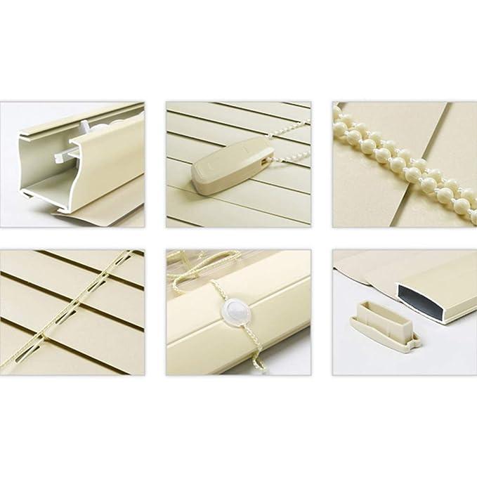 JU FU Persianas de aleación de Aluminio y magnesio persianas enrollables Ventana del baño 3 Colores de Varios tamaños (Color : A, Tamaño : 60X200cm): ...