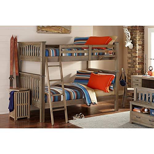 NE Kids Highlands Harper Full Over Full Bunk Bed in Driftwoo