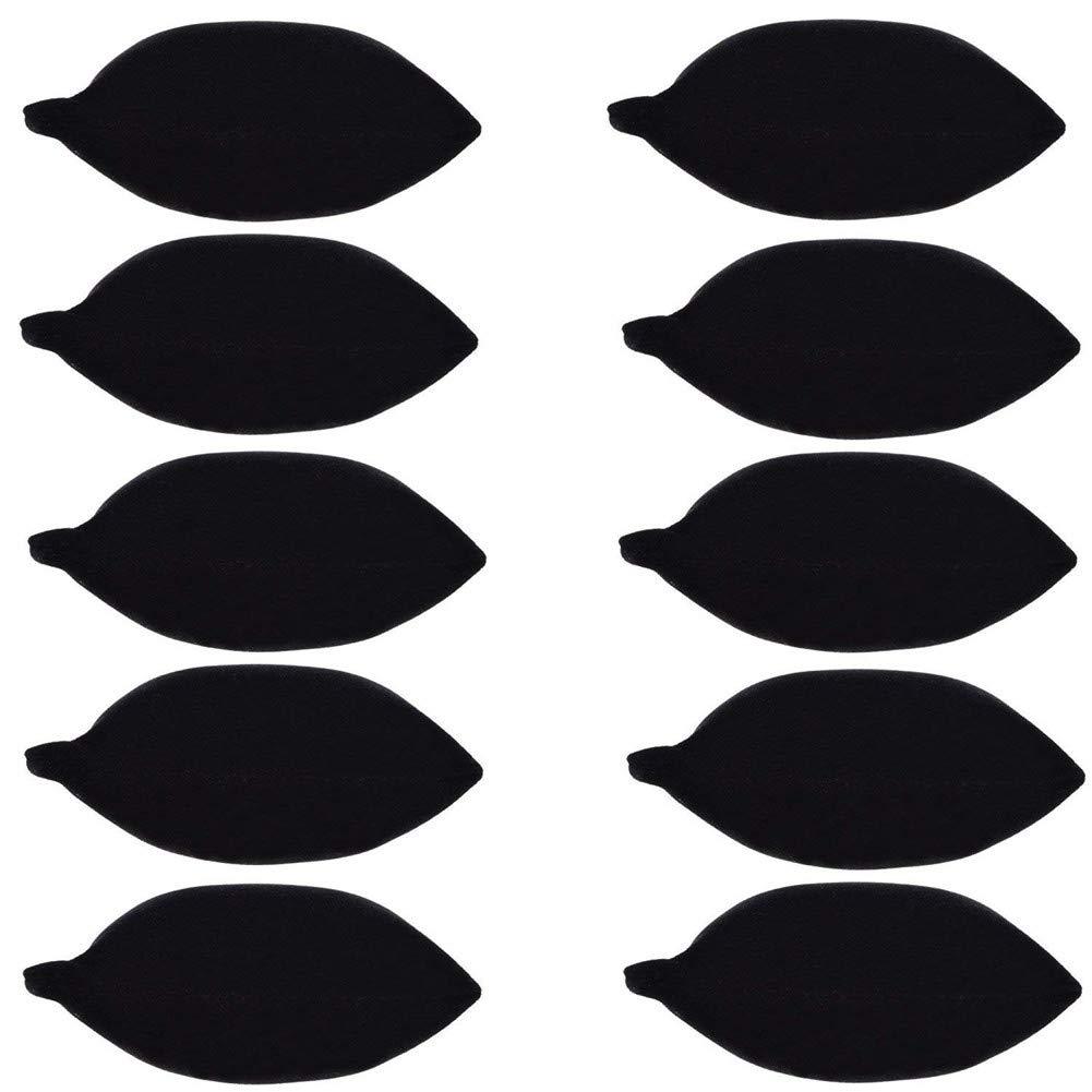 B-PRTT 10-Pieces Velvet Small Bracelet Watch Pillow Jewelry Displays Black