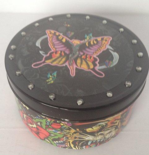 Ed Hardy Candle Medium Tin, Butterfly Girl