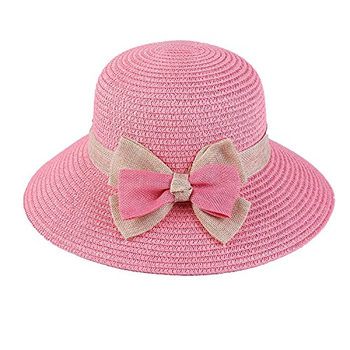 Heart .Attack Spring Summer Bow Lady Hat Sunshade Visor Beach Hat,D-26 Double Bow Deep (Costumes For Sale South Africa)