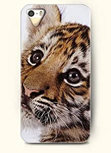 OOFIT phone case design with Cute Cub Tiger for Apple iPhone 4 4s