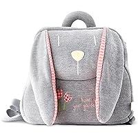 BELK Pillow Soft Stuffed Preschool Backpack (Grey Lop Ear Bunny)