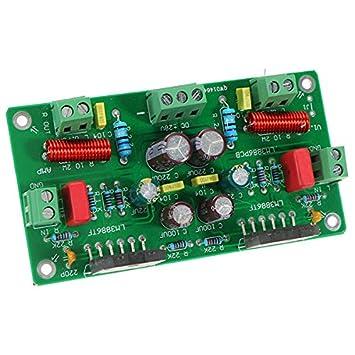 Ils - LM3886 HiFi TF Estéreo Amplificador Asambleas AMP Junta 68W + 68W 4ohm 50W *