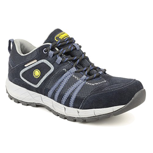 Cotswold Mens Sevenwells Hiking Walking Shoes Navy Multicolor - negro y azul