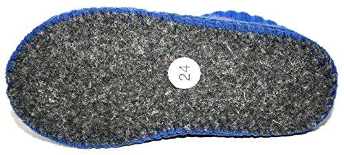 Haflinger , Chaussons pour fille Bleu Bleu 24