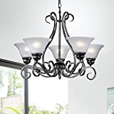 Iron 5-light Hanging Chandelier For Sale