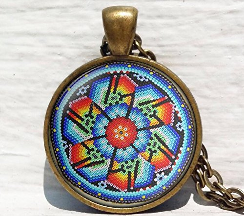 Mexican Folk Art,Mexican Ornamental,Mexican art Pendant, Mexican Jewelry, Mexican Jewelry,Boho ethnic Necklace