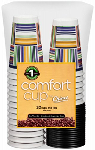Chinet Comfort Cup , 20-Count Cups & Lids