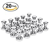 Magnetic Push Pins 20 pack ,Silver Magnets, Brushed