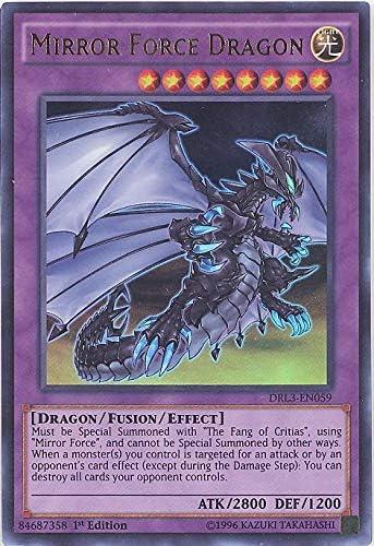 Ultra Rare 1st Ed Yugioh 1x DRL3-EN059 Mirror Force Dragon