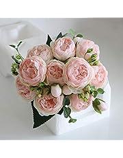 StarLifey 2PCS(13FT) Fake Rose Vine Garland Artificial Flowers Plants for Hotel Wedding Home Party Garden Craft Art Decor