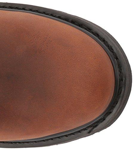 pelle marrone Toe scuro uomo in con cappuccio Soft Pullover Stivale da reversibile SZqvR