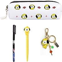 PINGJING BTS Gifts Set—BTS Pencil Case Pen Pouch Bag with Gel Pen (Jimin)
