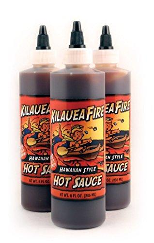 - Kilauea Fire Hot Sauce 8 fl.oz. (3 Bottles)