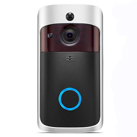 Wifi Timbre video, UKXHY 720P HD Cámara de seguridad de la puerta,Timbre Inalámbrico