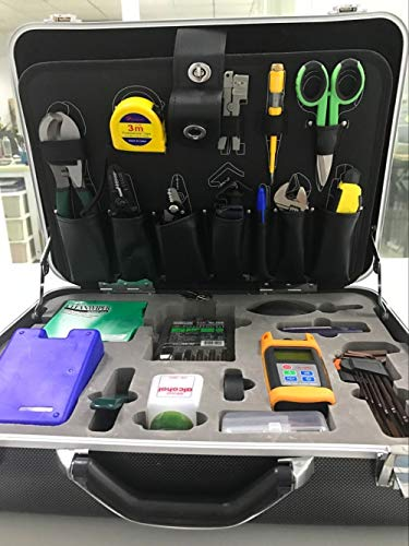 Fiber Optic Tool Kit KomShine Fiber Optic FTTH Tool Kit KFS-35D,Fusion Splicing Tool kit,FTTH Assembly/Termination/Installation Tool Kit (KFS-35D With Cleaver, VFL and Power meter)