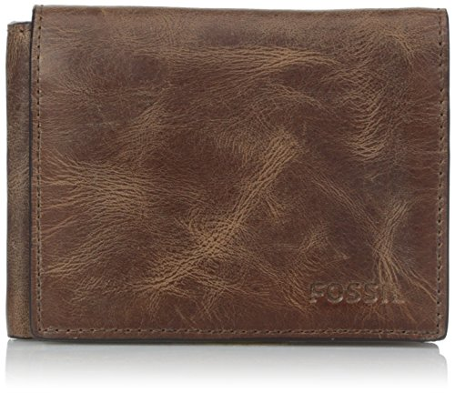 Fossil Men's Execufold Wallet, Derrick- Brown, One Size