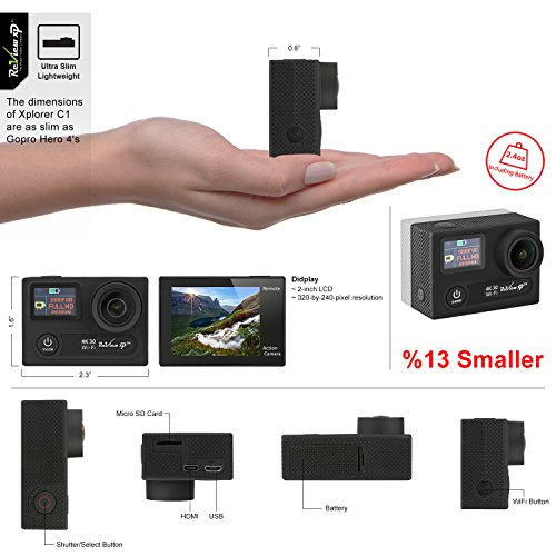 Review Wi-Fi 14MP 30fps Sports Underwater Wide Angle Dual 2 Kit Remote -