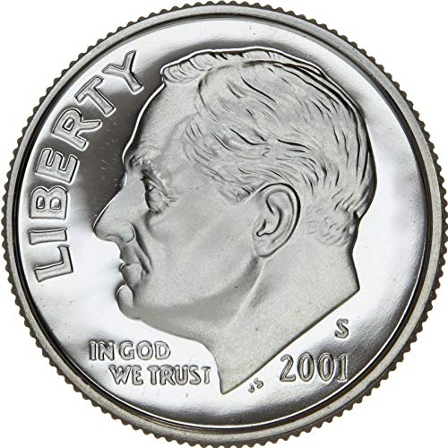 2001 S Roosevelt Clad Proof Dime PF1