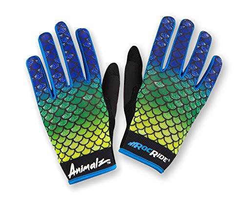 (RocRide Animalz Cycling Gloves El Dorado. Full-Fingered with Touch Tips. Mountain Biking, Road and BMX. Expressive Animal Print Designs. (EL Dorado, Mens XX-Large))
