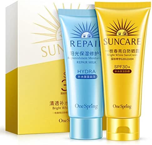 SPF30+PA+++ Package Combination ,2017 New Clear Moisturizing Repair Sunscreen (Yellow)